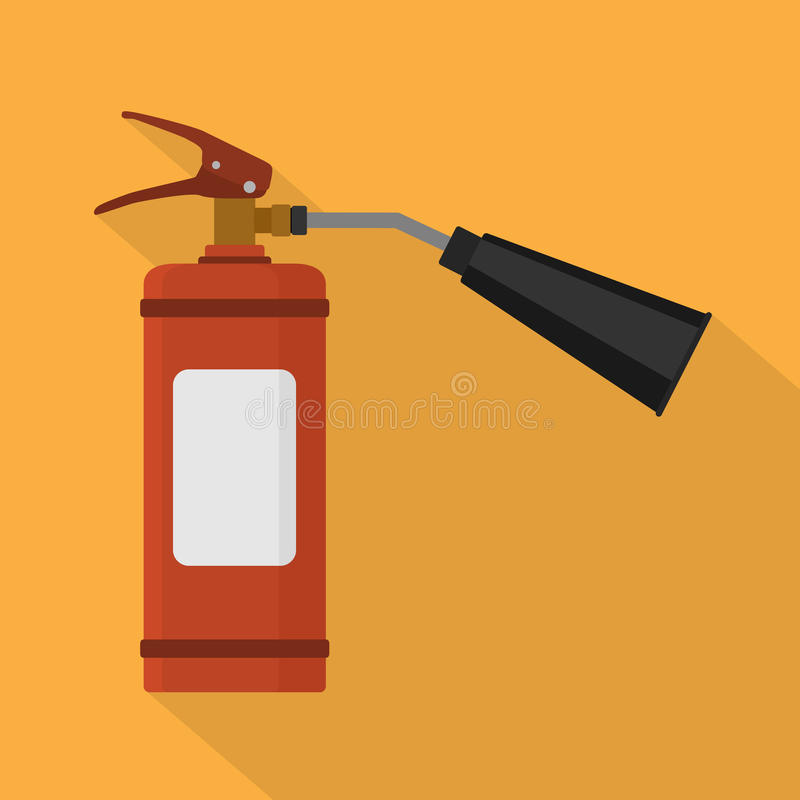 för eldsläckarebrand för bakgrund 3d isolerad white bild stock illustrationer