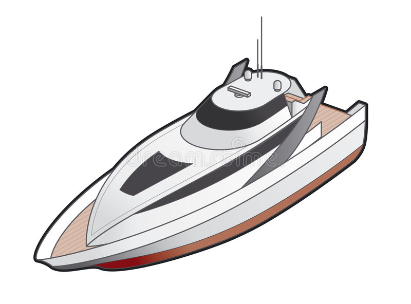 för elementsymbol för design 41j yacht för motor royaltyfri illustrationer