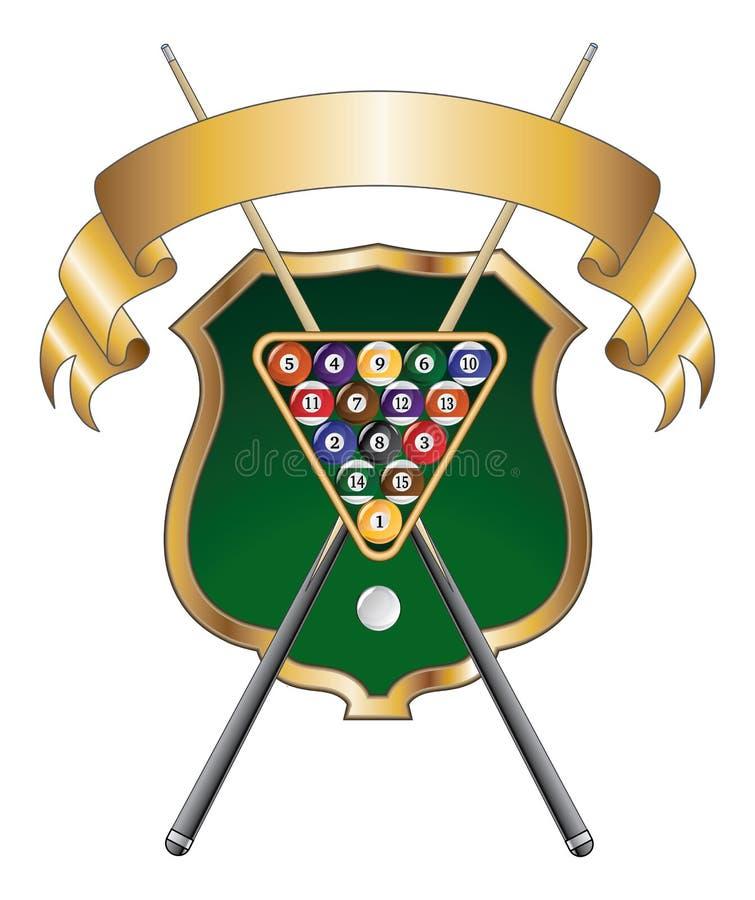 För Emblemdesign för åtta boll band vektor illustrationer