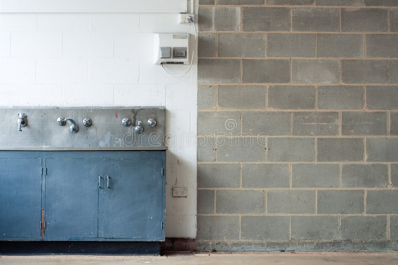 för en hovägg för grunge inre tvätt fotografering för bildbyråer