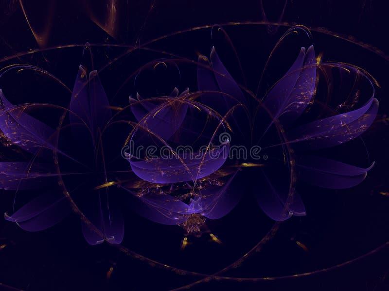 För energikonstverk för Fractal mystisk mall för abstrakt modern bakgrund för vetenskap fantastisk vektor illustrationer