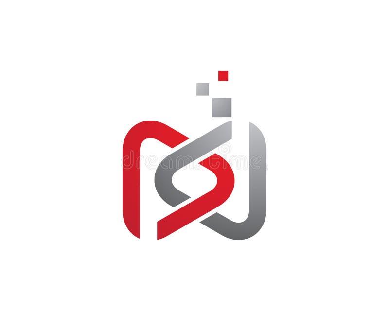 För enhetvektor för affär företags abstrakt design för logo royaltyfri illustrationer