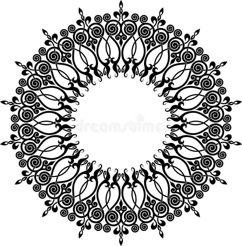 för eps-illustration för 8 cirkel vektor för prydnad vektor illustrationer