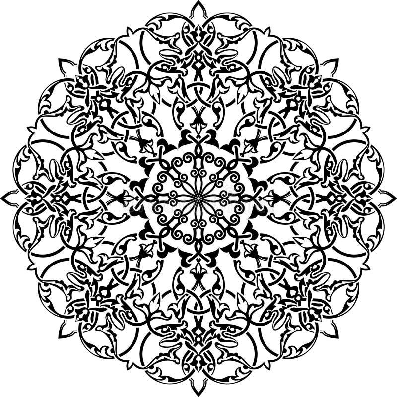 för eps-illustration för 8 cirkel vektor för prydnad stock illustrationer