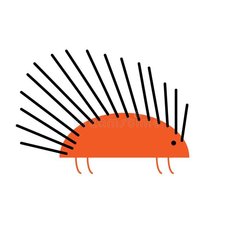 För ett piggsvintecknad film för plan design gullig illustration för vektor för symbol vektor illustrationer