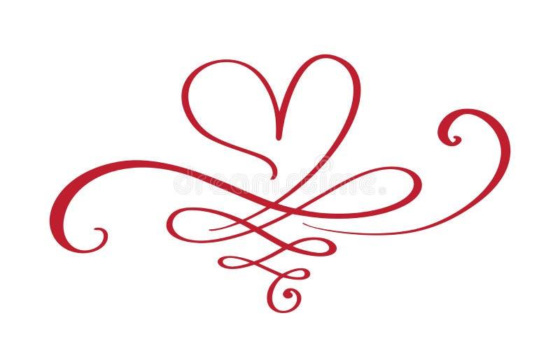 För evigt för hjärtaförälskelsetecken Sammanfogar det anknöt romantiska symbolet för oändligheten, passion och bröllop Mall för t stock illustrationer