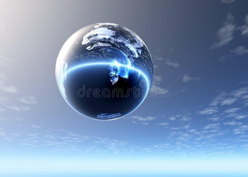 för exponeringsglas skysphere högt royaltyfria foton