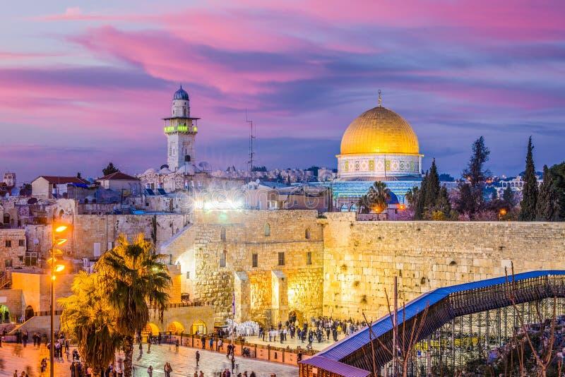 för extern gammal vägg jerusalem för stad minaret fotografering för bildbyråer