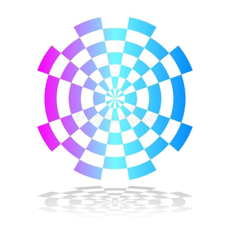 För färgdesign för cirkel geometrisk beståndsdel arkivbilder