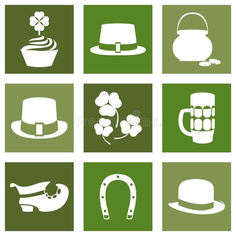 För färgdesign för vektor modern plan symbol på den helgonPatricks dagen royaltyfri illustrationer