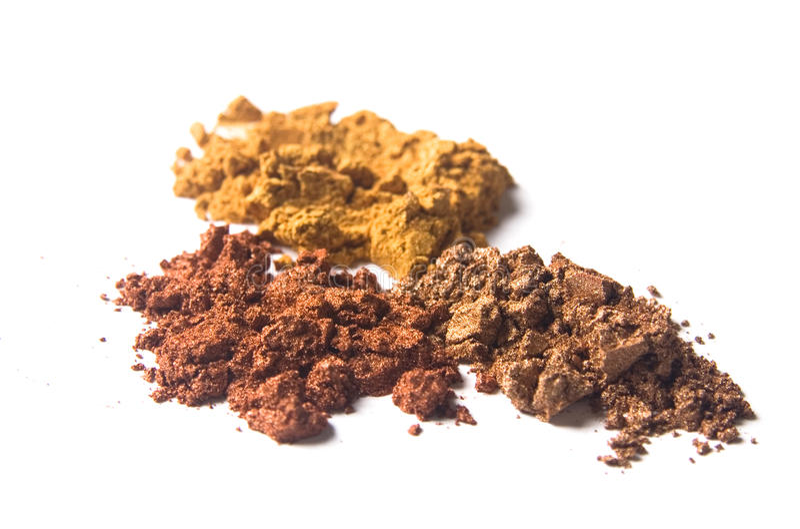 för färgguld för akryl brun pigment för pärla royaltyfria bilder
