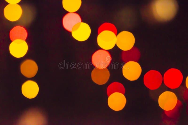 För färgljus för abstrakt bokeh suddig bakgrund arkivbild