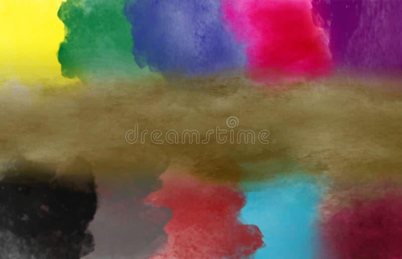 För färgmålarfärg för abstrakt konst effekt för borste royaltyfri illustrationer