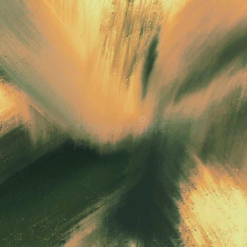 För färgpulverborste för abstrakt hand utdraget målat konstverk för slaglängder Godan för bakgrunder, konstverk, teman, affischen stock illustrationer
