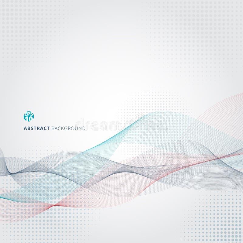För färgvåg för abstrakt begrepp släta linjer rörelsemodell stock illustrationer