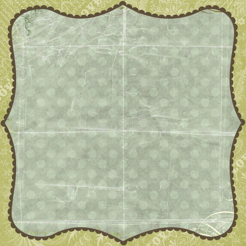 för förälskelsepapper för bakgrund blom- grön scrapbook arkivfoto