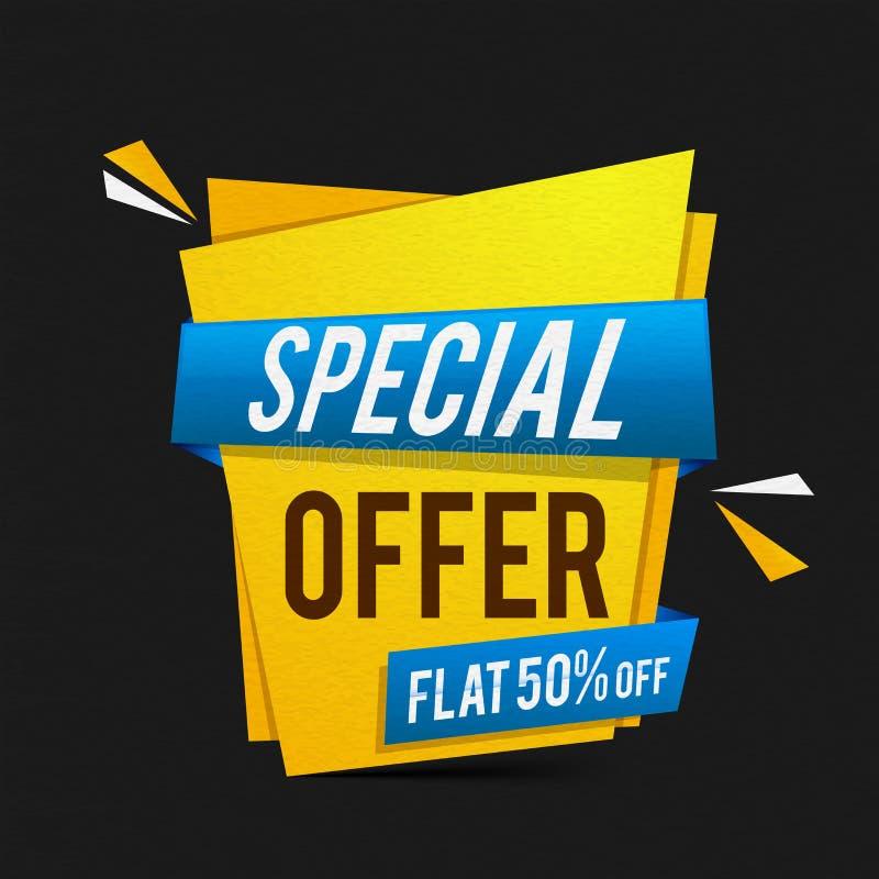 För för för Sale för specialt erbjudande design affisch, baner eller reklamblad vektor illustrationer