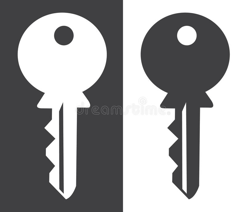 För för konturvit och svart för hus nyckel- bakgrund vektor illustrationer