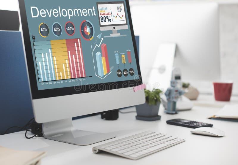 För förbättringsledning för utveckling finansiellt begrepp royaltyfria bilder