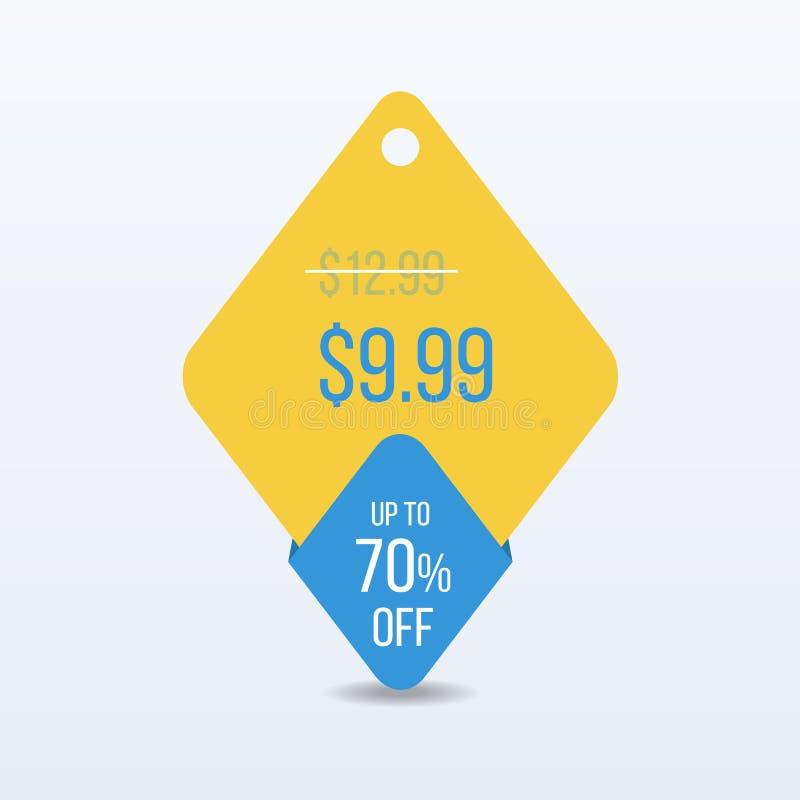 För försäljningsetikett för specialt erbjudande pris för tecken för klistermärke för detaljhandel för symbol för rabatt vektor vektor illustrationer