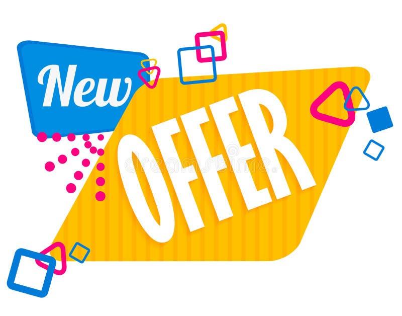 För försäljningsetikett för specialt erbjudande symbol för rabatt, mega klistermärke för design för erbjudande för försäljningsba stock illustrationer