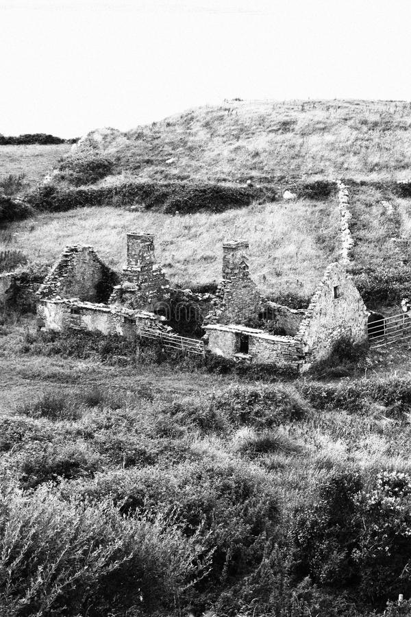 För fall stuga ner i ståndsmässiga Clare Ireland 2 arkivbild