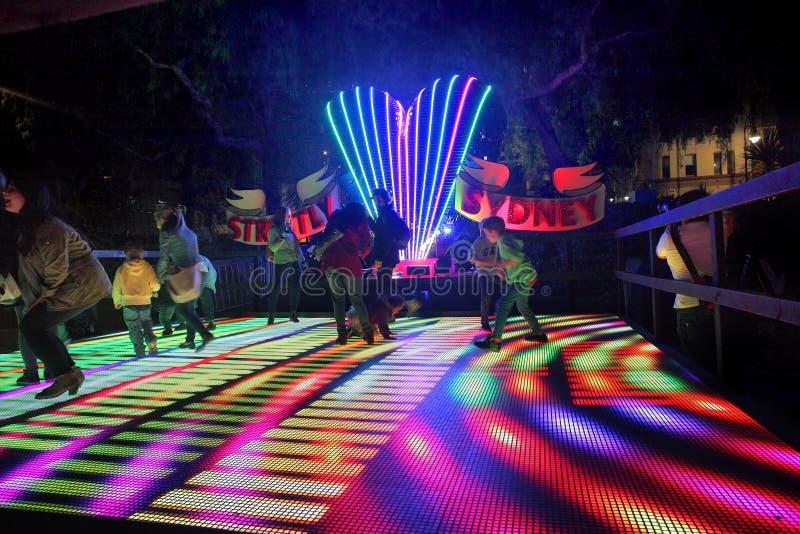 För familjer Sydney enjoyStrictly växelverkande dansgolv royaltyfria bilder