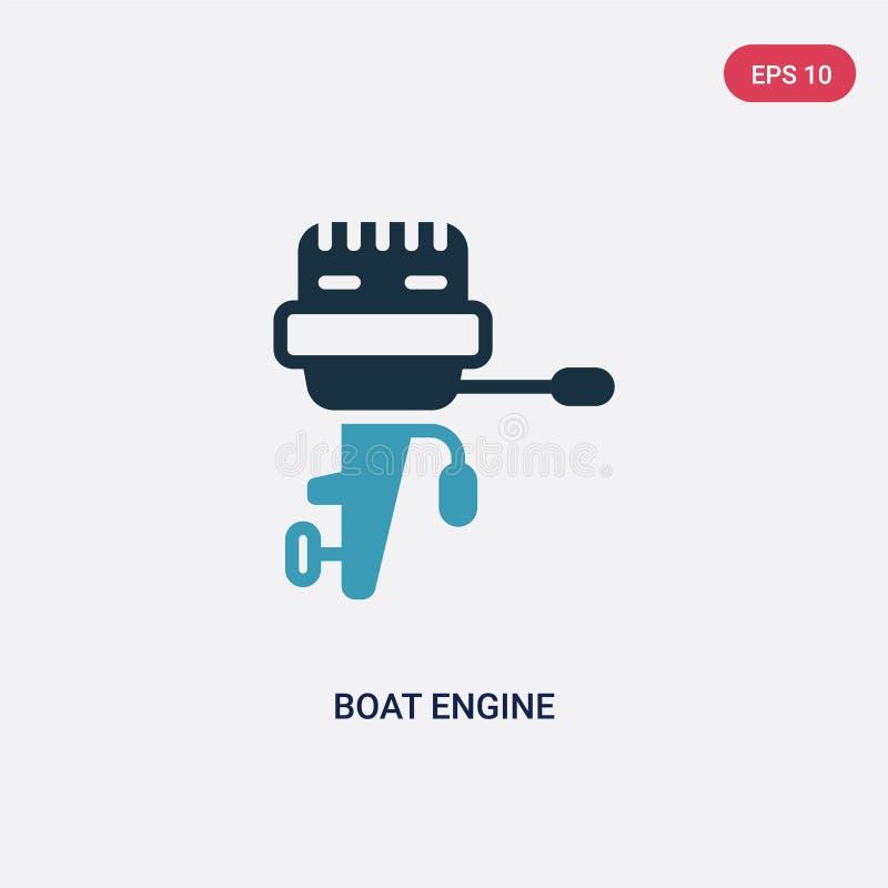 För fartygmotor för två färg symbol för vektor från nautiskt begrepp det isolerade blåa symbolet för tecknet för fartygmotorvekto stock illustrationer