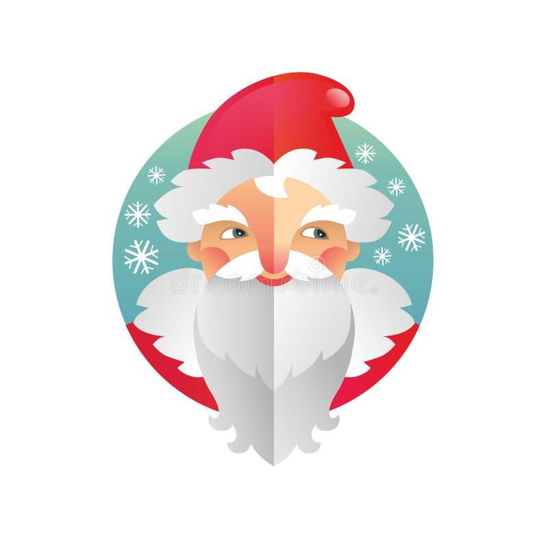 För ferie fader Frost och Santa Claus för nytt år och jul royaltyfri illustrationer
