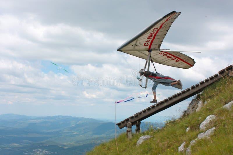 för fieshglidning för 2011 konkurrensar öppen hang arkivbild