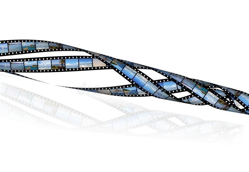 för filmbilder för strand härliga band royaltyfri illustrationer