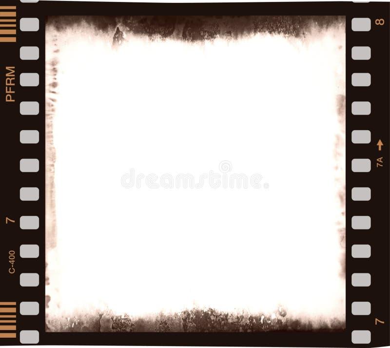för filmdel för central färg tom remsa royaltyfri bild