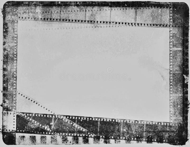 För filmfilm för tappning negativ tappning för vit för svart för remsa royaltyfria bilder