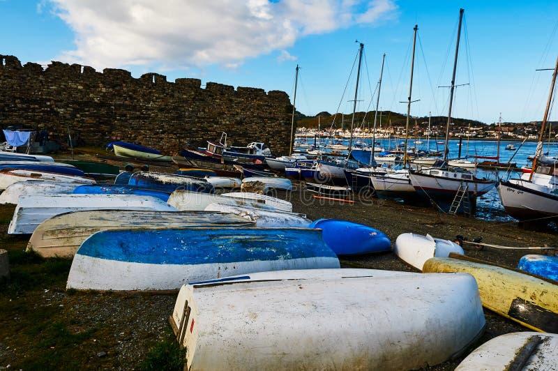 By för Fishermans fartyghamn arkivfoto