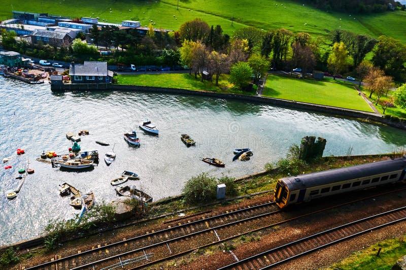 By för fiskarefartyghamn royaltyfri bild