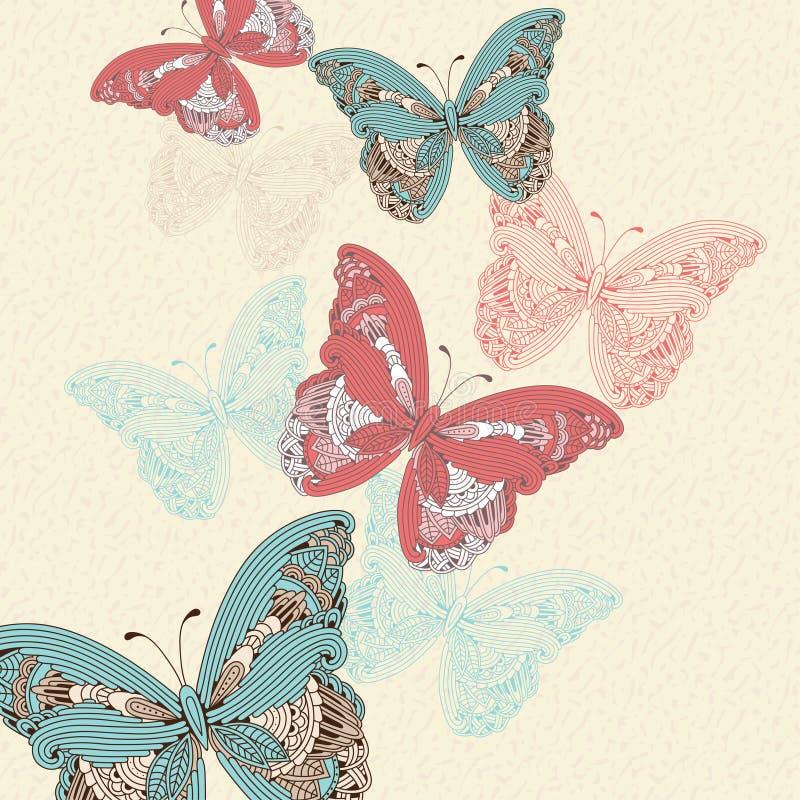 för fjärilseps för 10 bakgrund vektor royaltyfri illustrationer