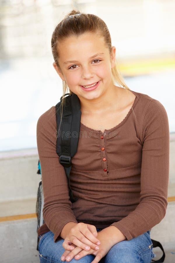 för flicka teen skola pre royaltyfri fotografi