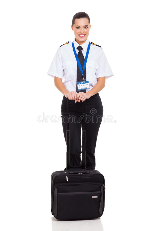 För flygbolag tjänsteman först royaltyfria foton