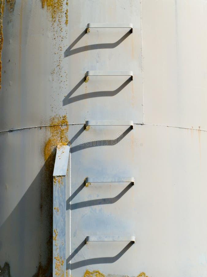 för foddermetall för åkerbruk detalj jäsa silo royaltyfria bilder