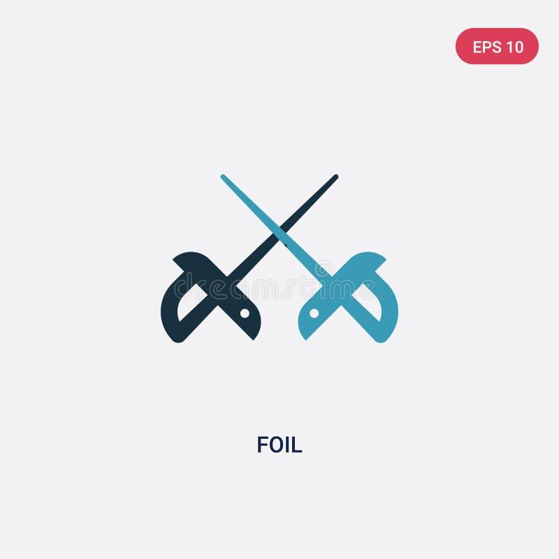För folievektor för två färg symbol från sportbegrepp det isolerade blåa symbolet för folievektortecknet kan vara bruk för rengör royaltyfri illustrationer