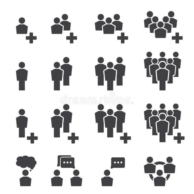 för folkperson för symbol en arbete för användare set vektor illustrationer