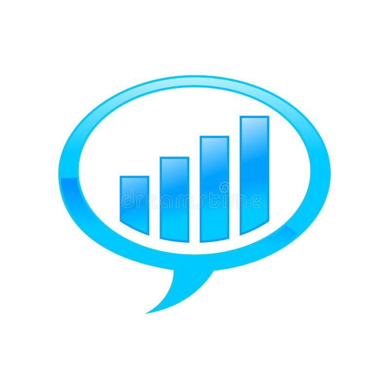 För forumbubbla för finansiell investering design för symbol för blått för samtal stock illustrationer