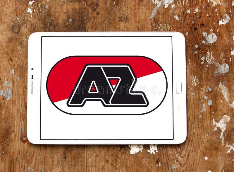 För fotbollklubba för AZ Alkmaar logo royaltyfri fotografi