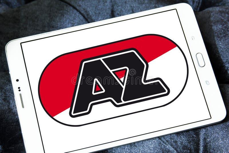 För fotbollklubba för AZ Alkmaar logo royaltyfria bilder
