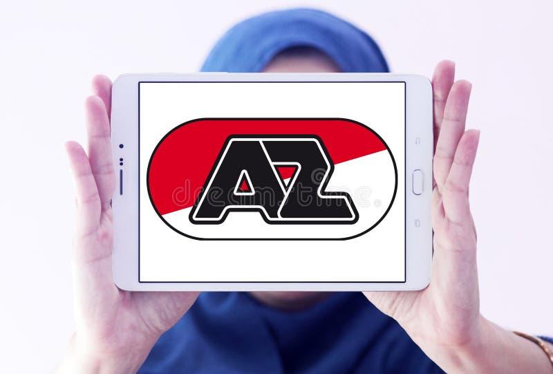 För fotbollklubba för AZ Alkmaar logo royaltyfri foto