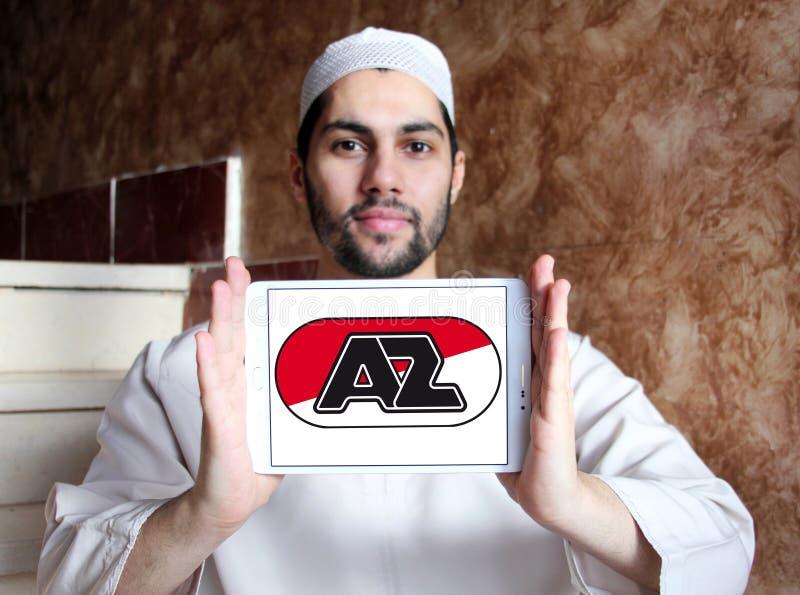 För fotbollklubba för AZ Alkmaar logo arkivfoton