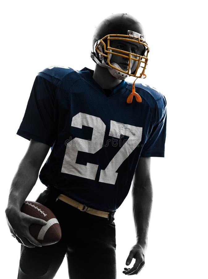 För fotbollsspelareman för Quarterback amerikansk stående royaltyfria bilder