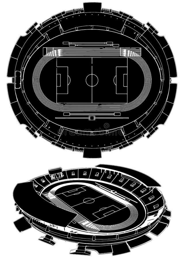 för fotbollstadion för 02 fotboll vektor vektor illustrationer