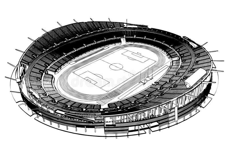 för fotbollstadion för 03 fotboll vektor stock illustrationer