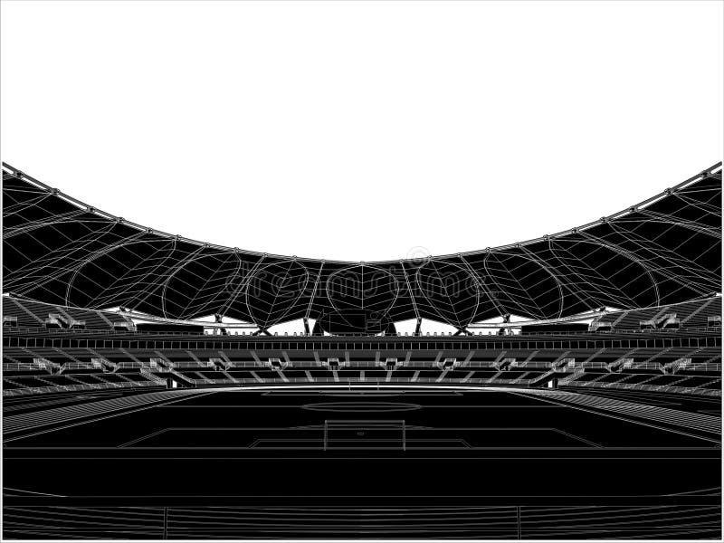 för fotbollstadion för 16 fotboll vektor royaltyfri illustrationer